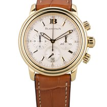 Blancpain Léman pre-owned 39mm White Chronograph Date Leather
