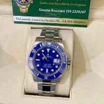 Rolex Submariner Date Oro blanco 40mm Azul Sin cifras