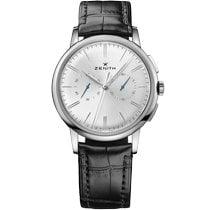 Zenith Elite Chronograph Classic Acier 42mm Argent Sans chiffres