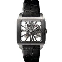 Cartier Titan Handaufzug Transparent Keine Ziffern 47.4mm neu Santos Dumont