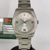 Rolex Air King Steel 34mm Silver Arabic numerals