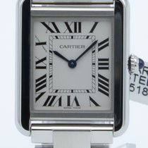 Cartier Tank Solo pre-owned 24mm White Fold clasp