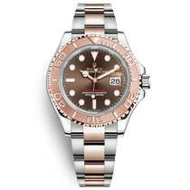 Rolex Yacht-Master 40 Gold/Steel 40mm Brown No numerals