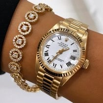Rolex Lady-Datejust Yellow gold 26mm White Roman numerals
