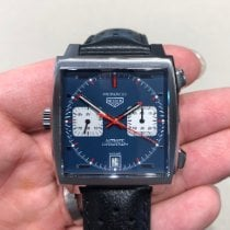 TAG Heuer Monaco Calibre 11 Steel 39mm Blue No numerals United States of America, Maryland, Gambrills