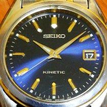 Seiko Kinetic Steel 38.5mm Blue No numerals
