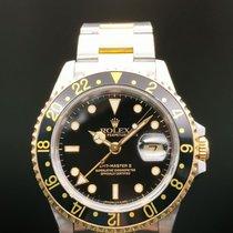 롤렉스 GMT-마스터 II 금/스틸 40mm 검정색 숫자없음
