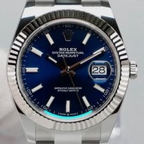 Rolex Datejust Goud/Staal 41mm Blauw Geen cijfers Nederland, Maastricht