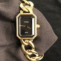Chanel Première Yellow gold 20mm Black No numerals