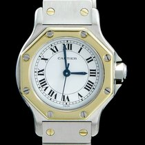 Cartier Santos (submodel) 29662 Very good Gold/Steel 24mm Automatic