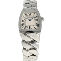 Cartier La Dona de Cartier Stahl 22mm Weiß Römisch