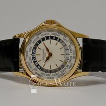 Patek Philippe World Time Żółte złoto 37mm Srebrny Bez cyfr