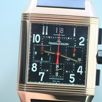 Jaeger-LeCoultre Reverso Squadra Chronograph GMT Or rose 35mm Noir