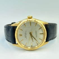 Rolex Or jaune Remontage automatique Champagne Sans chiffres 34mm occasion Oyster Perpetual 34