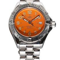 Breitling Superocean Stahl 41mm Orange Arabisch Schweiz, Zug