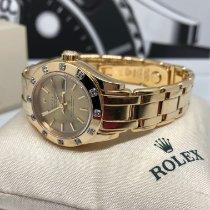 Rolex Lady-Datejust Pearlmaster Oro amarillo 29mm Blanco Romanos