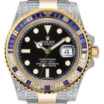 Rolex Submariner Date Ouro/Aço 40mm Preto