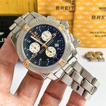 Breitling Emergency Золото/Cталь 45mm Чёрный Aрабские