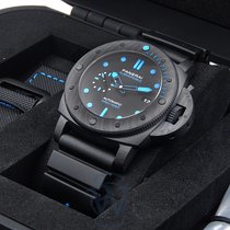 Panerai Carbon Automatic Black 47mm new Luminor GMT Automatic