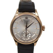 Rolex Cellini Dual Time Rose gold 39mm Silver No numerals United States of America, New York, New York