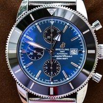 Breitling Superocean Héritage II Chronographe Ocel 46mm Modrá