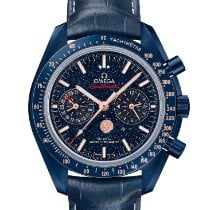 Omega Speedmaster Professional Moonwatch Moonphase Cerámica 44.25mm Azul Sin cifras