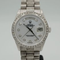 Rolex Or blanc Remontage automatique Nacre Sans chiffres 36mm occasion Day-Date 36