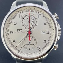 IWC Portuguese Yacht Club Chronograph Staal 45.4mm Zilver Arabisch