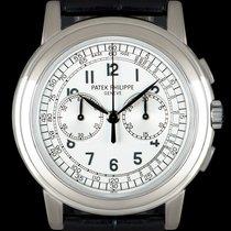 Patek Philippe Chronograph White gold 42mm Silver Arabic numerals