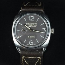 Panerai Platinum Manual winding Grey Arabic numerals 45mm pre-owned Radiomir Black Seal