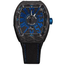 Franck Muller Carbon Automatic Black Arabic numerals 44mm new Vanguard