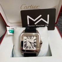 Cartier Santos 100 Steel White Roman numerals