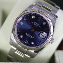 Rolex Oyster Perpetual Date Acier 34mm Bleu Arabes France, Cannes