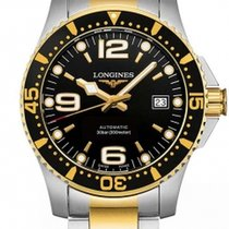 Longines HydroConquest Or/Acier 41mm Noir Arabes