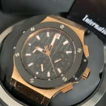 Hublot Rose gold Automatic Black No numerals 44mm pre-owned Big Bang 44 mm