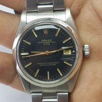 Rolex Oyster Perpetual Date Steel Black No numerals India, Anand