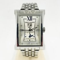Cuervo y Sobrinos pre-owned Automatic 32mm Silver Sapphire crystal