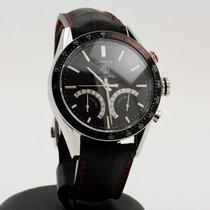 泰格豪雅 Carrera 鋼 47mm 黑色 無數字
