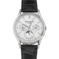 Patek Philippe Perpetual Calendar White gold 37mm Silver No numerals United States of America, Maryland, Baltimore, MD