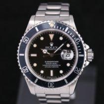 Rolex Submariner Date Zeljezo 40mm Crn Bez brojeva