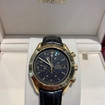 Omega Yellow gold Automatic Black No numerals 37mm pre-owned Speedmaster Reduced