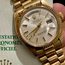 Rolex Day-Date 36 Or jaune 36mm Argent Sans chiffres