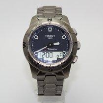 Tissot T-Touch II gebraucht 43.3mm Blau Chronograph Datum Ewiger Kalender Titan
