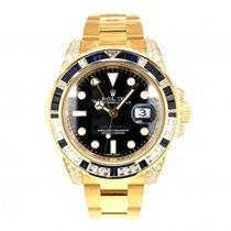 Rolex GMT-Master II Желтое золото 40mm Черный