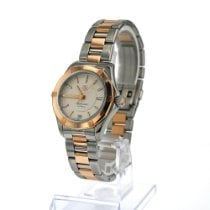 TAG Heuer Aquaracer Lady Goud/Staal 34mm Wit Geen cijfers