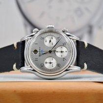 Longines Heritage Steel 38mm Silver Arabic numerals