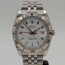 Rolex Datejust Turn-O-Graph Zeljezo 36mm Bjel Bez brojeva