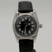 Rolex Bubble Back Steel 32mm Black Arabic numerals