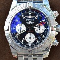 Breitling Chronomat 44 GMT gebraucht 44mm Schwarz Chronograph Datum GMT/Zweite Zeitzone Stahl