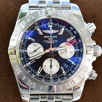Breitling Chronomat 44 GMT Staal 44mm Zwart Geen cijfers